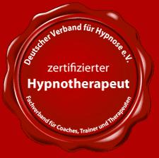 Zertifizierter Hypnotherapeut Siegel
